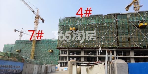 中海熙岸华府4#楼洋房建至8层,高层7#楼建至约6层(3.16)