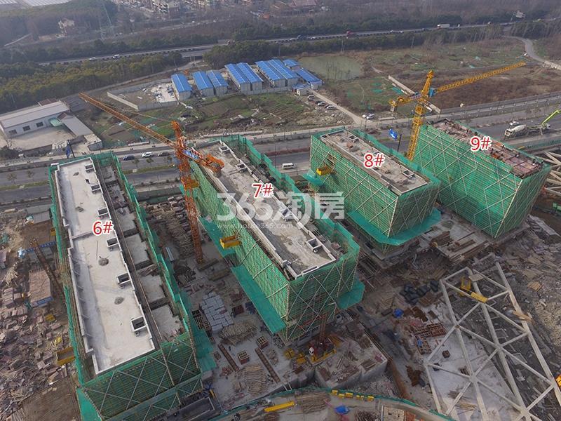 绿都云和湖6-9号楼工程进度图(2018.1)