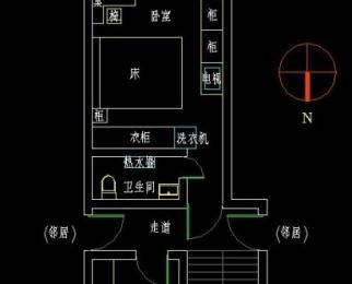 大石桥10号1室0厅1卫31.38㎡整租新精装