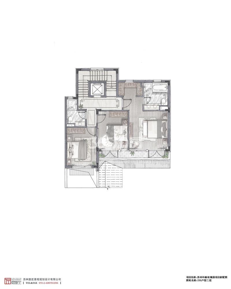 288㎡户型二层家配图