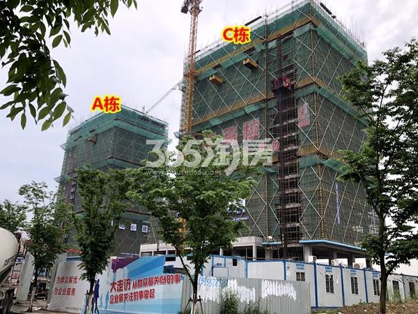 阳光100喜马拉雅A栋、C栋公寓工程进度实景(2018.4摄)