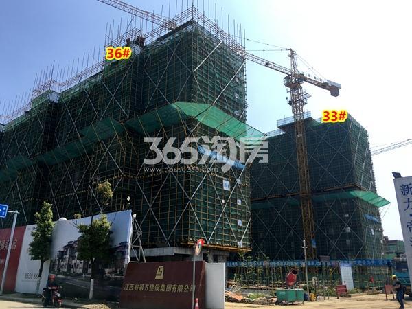 新力帝泊湾33#、36#楼工程进度实景(2018.4摄)