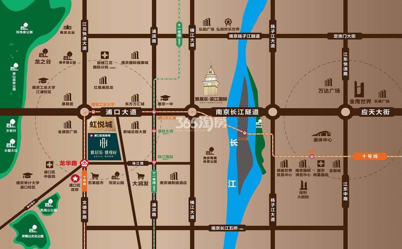 雅居乐雅尊府区位交通图