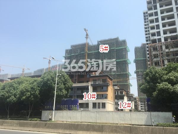 蓝光雍锦园高层5#、洋房10#、12#楼实景图(2018.6 摄)