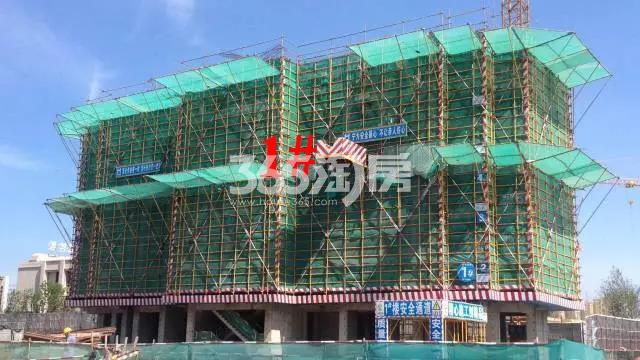 新城北宸紫郡1#工程进度实景图(10.30)
