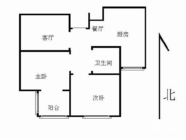 幸福筑家 铭人丽岛精装两房 南北通透 经典户型 采光充足