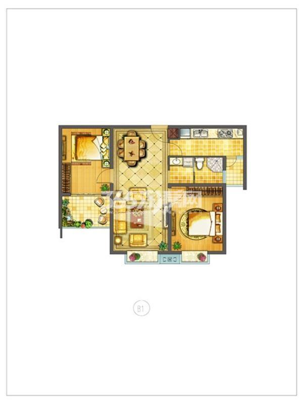 华海城市广场户型图