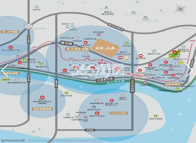 远洋山水交通图
