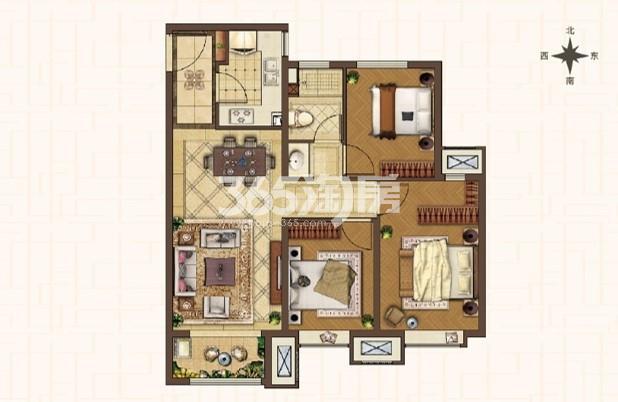 D2-107平米三室两厅一卫