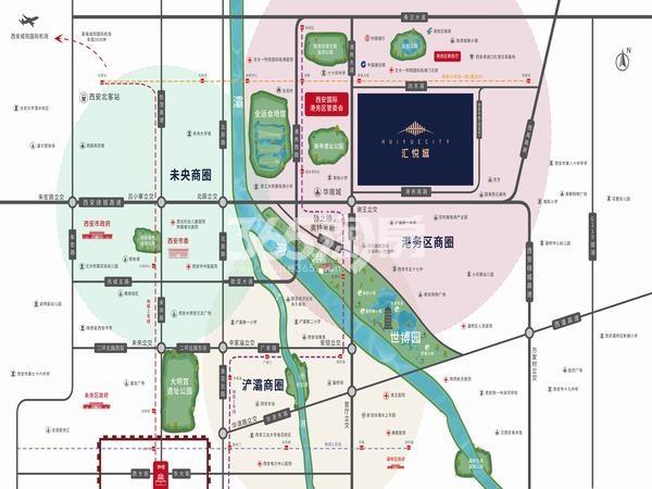 汇悦城交通图
