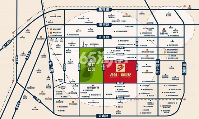 龙创·新世纪交通图