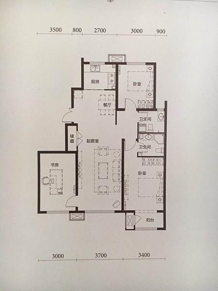 洋房 121平米3室2厅2卫