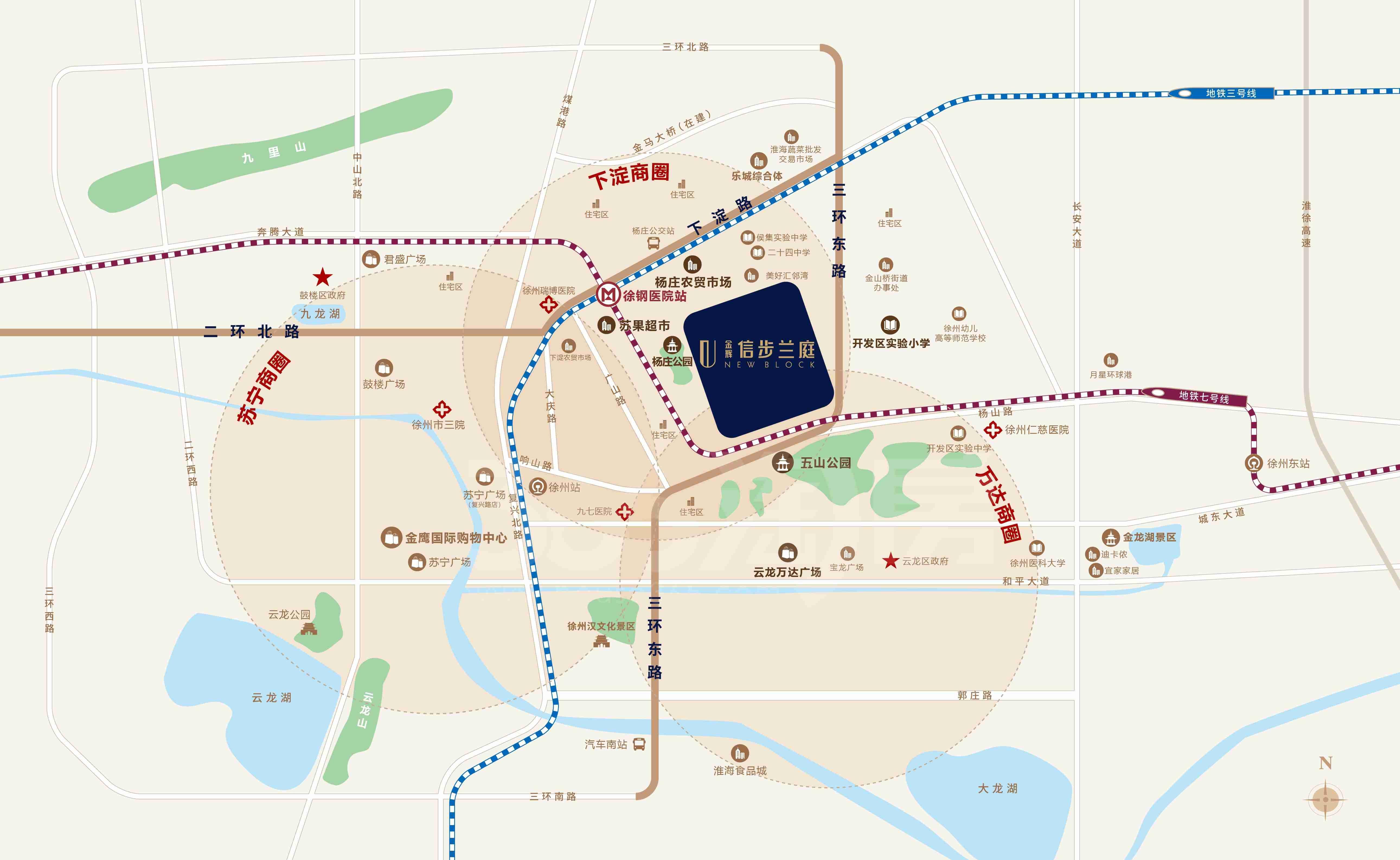 金辉信步兰庭交通图