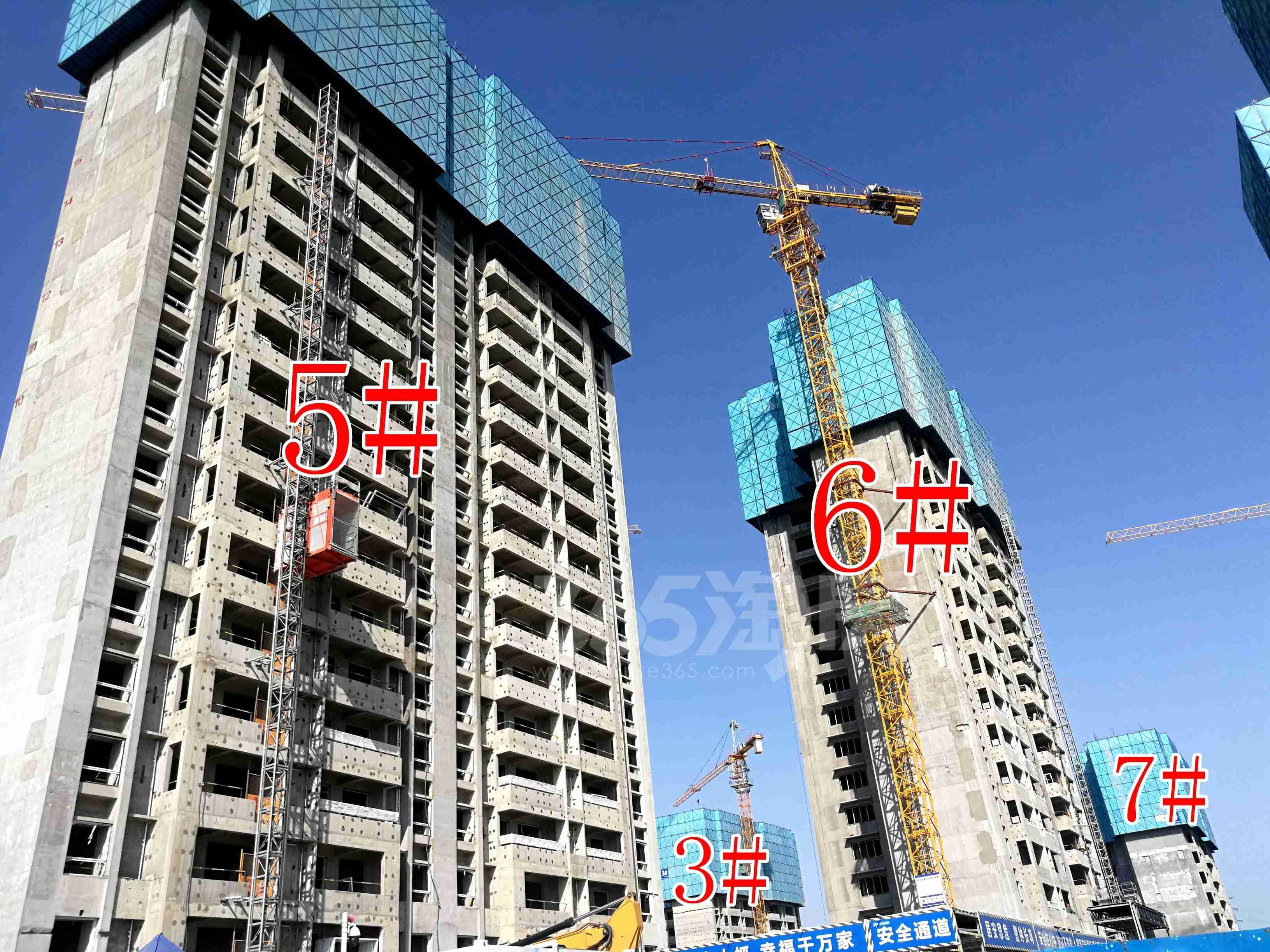 美的东湖天城3、5、6、7#工地实景图(4.29)