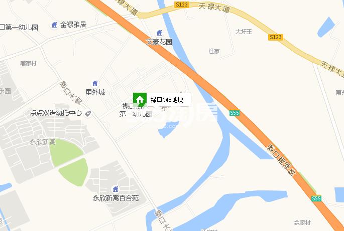 禄口G48地块交通图