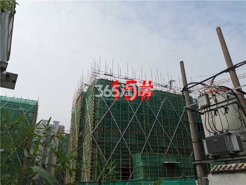绿地理想城悦湖公馆在建15#楼实景图(8.26)