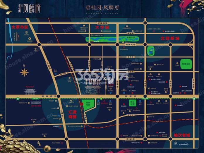 碧桂园凤麟府交通图