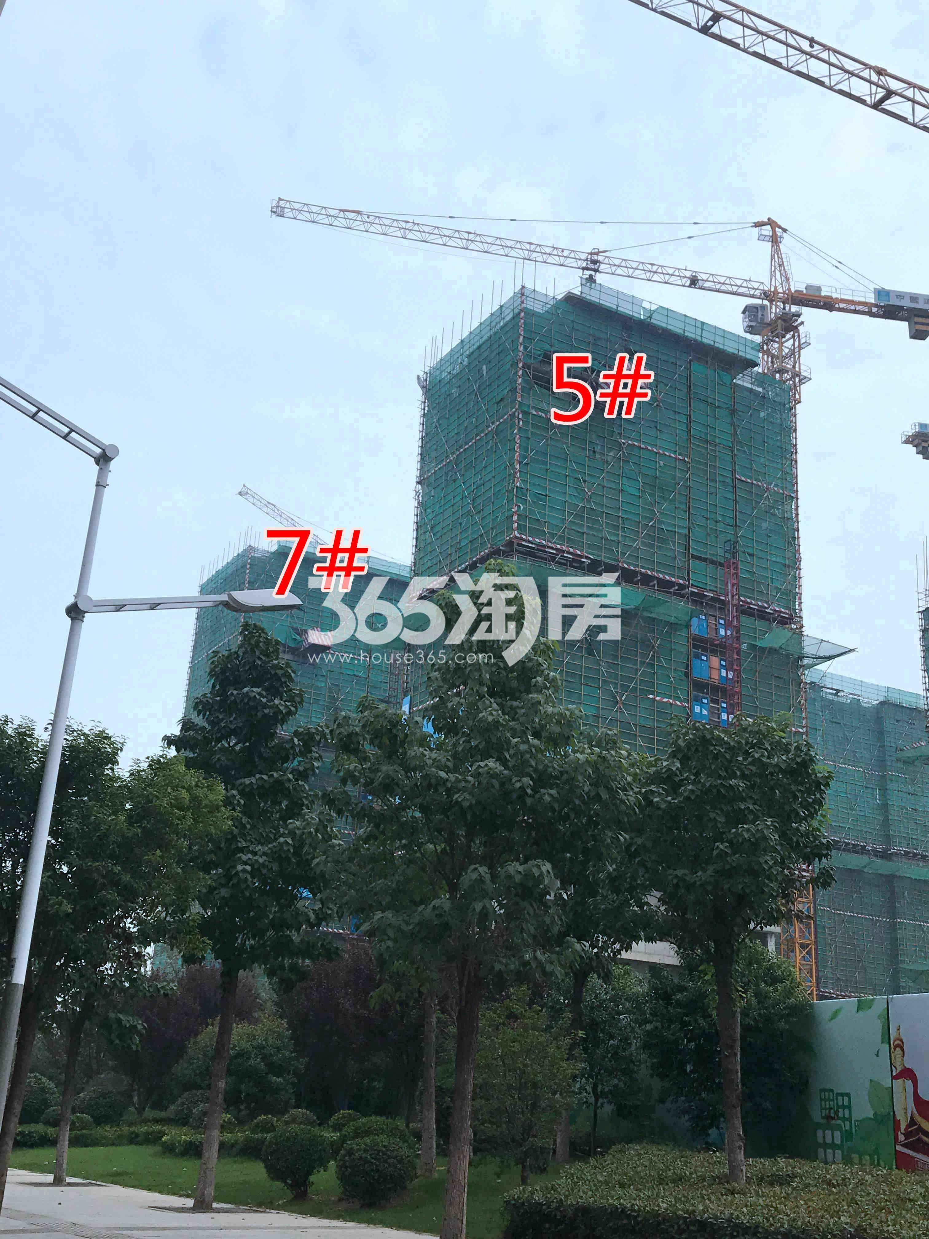 华宇九州府5、7#工地进度实景图(8.27)