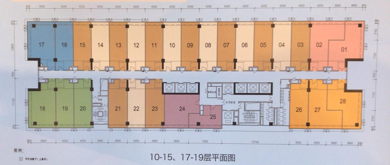 涟城汇10-15、17-19层户型图