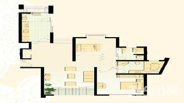 世茂滨江新城一期2室2厅2卫145㎡整租精装