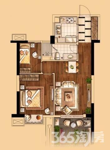 新上世茂海峡城 舒适两居室 新空未住 看房方便  室内图 外景图 户型