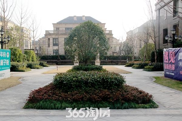 柏庄香府道路实景图(2018.1摄)