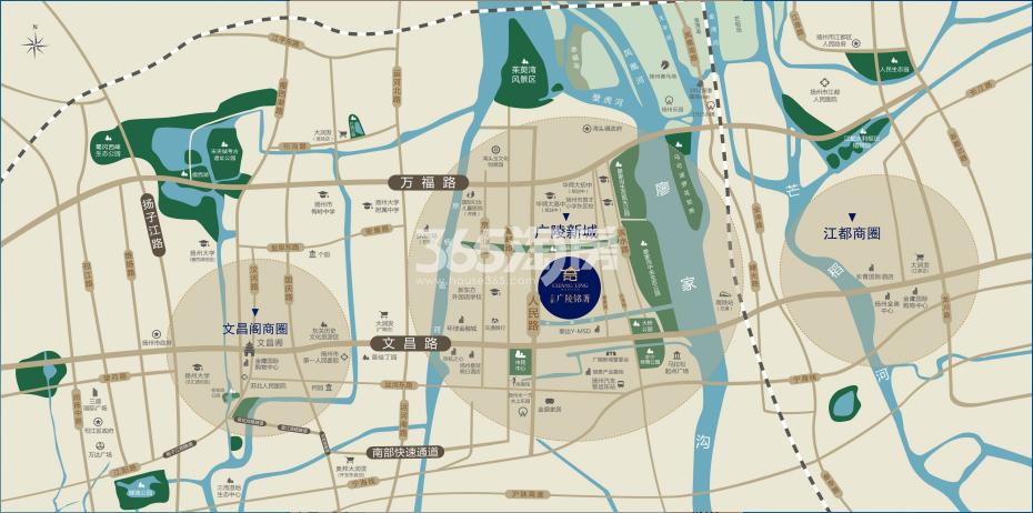 三金·广陵铭著交通图