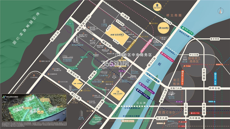 大华锦绣和樾交通图