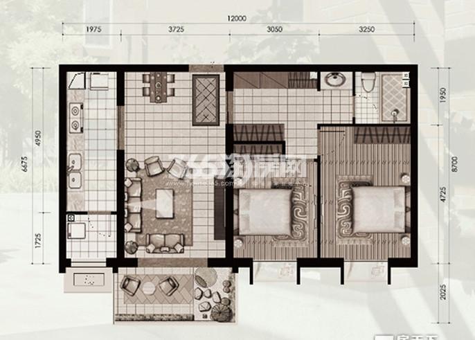 十二原城户型图