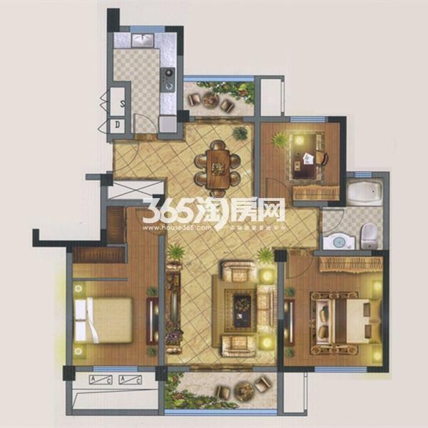 B3户型 3室2厅 114平