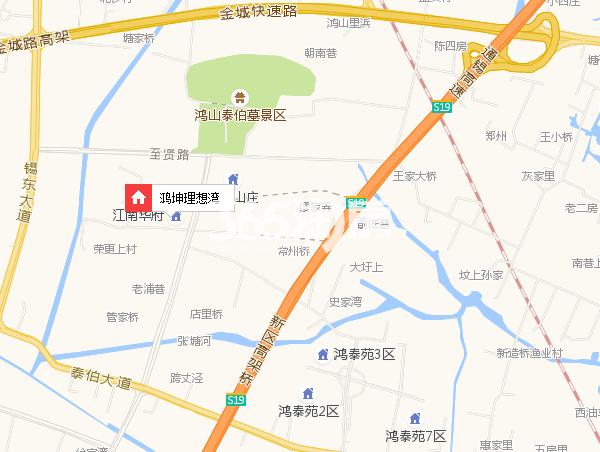 鸿坤理想湾交通图