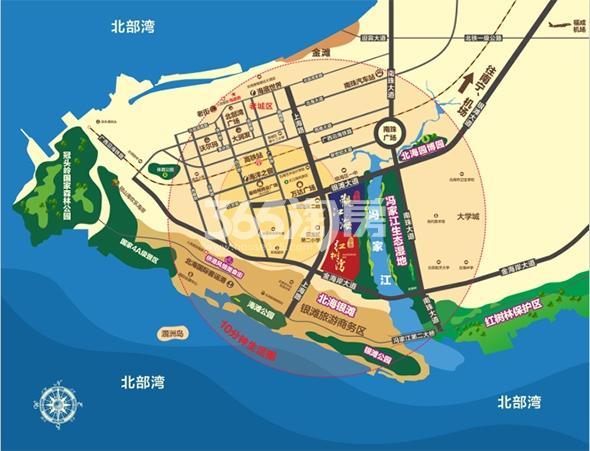 彰泰观江海交通图