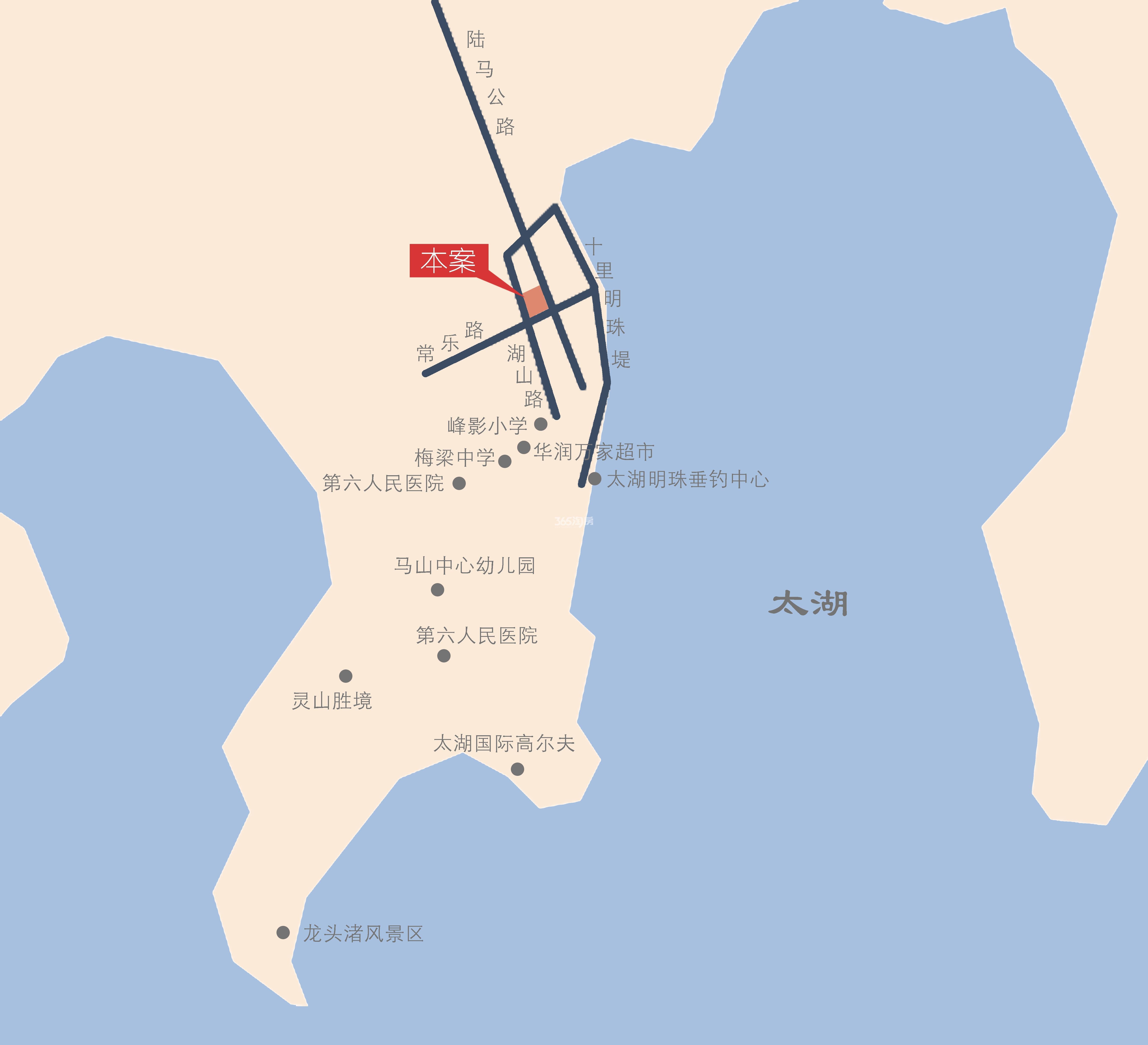 华君湖湾意境交通图