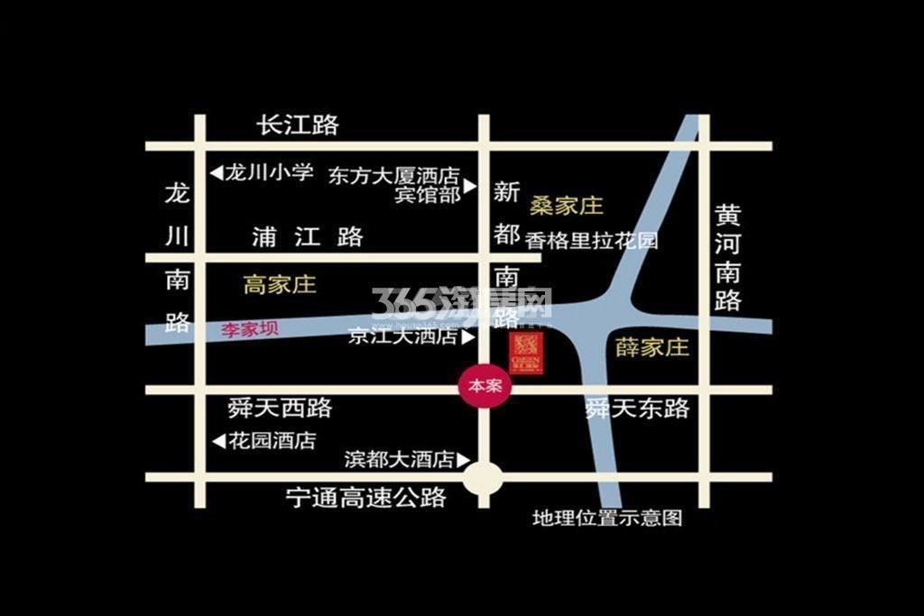 双汇国际交通图
