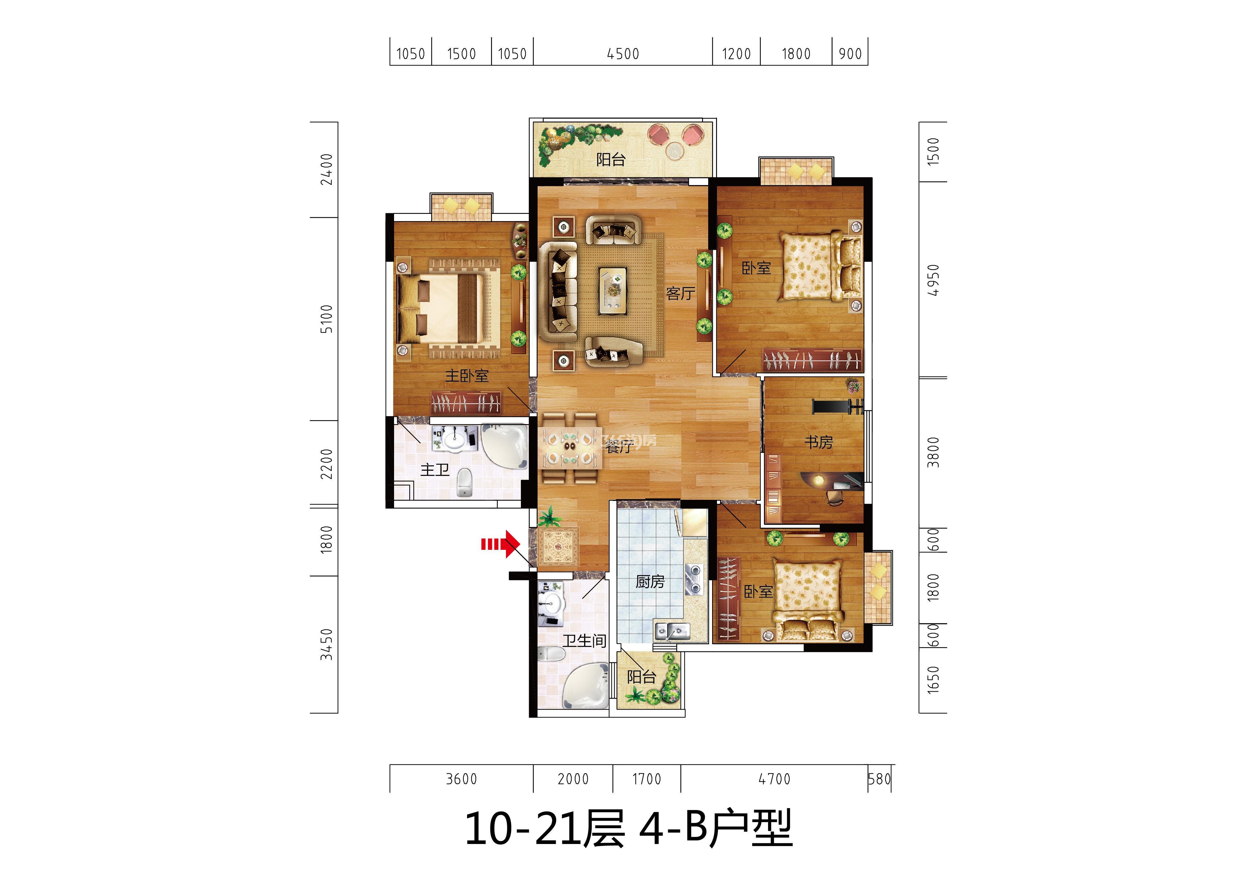 10-21层4-B户型
