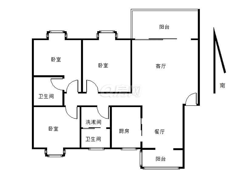 江宁区岔路口天地新城天权座3室2厅户型图