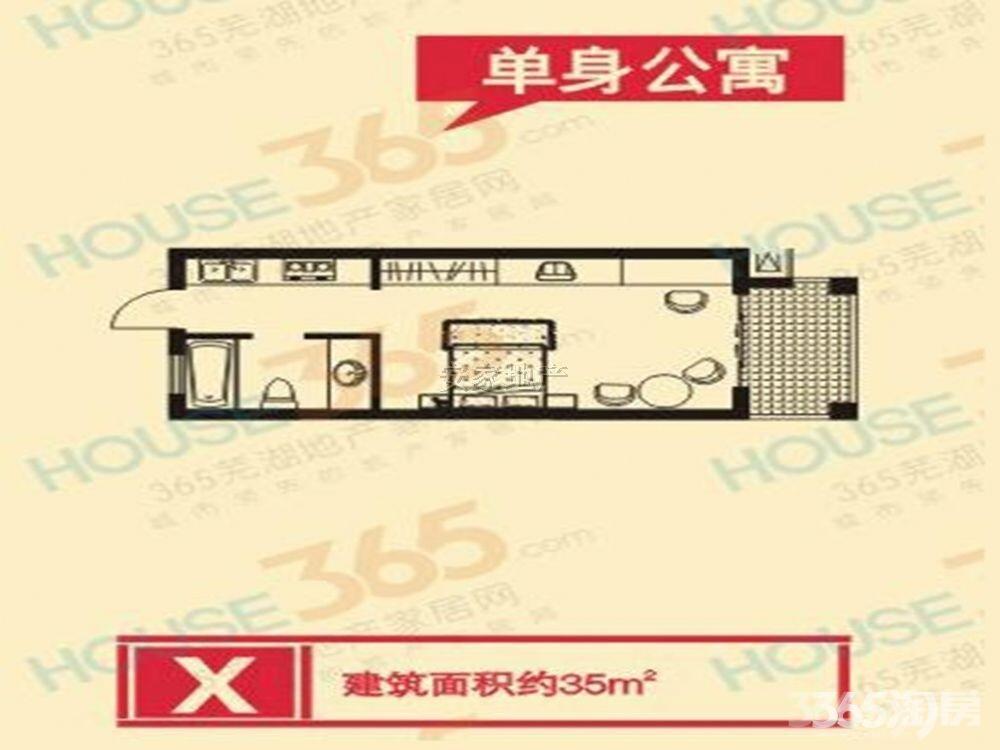 伟星凤凰城1室0厅1卫34.65平米2010年产权房简装
