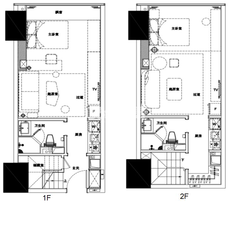 杭州富力中心酒店式公寓60方户型图
