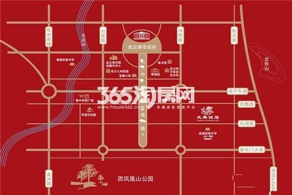 凤舞铭居交通图