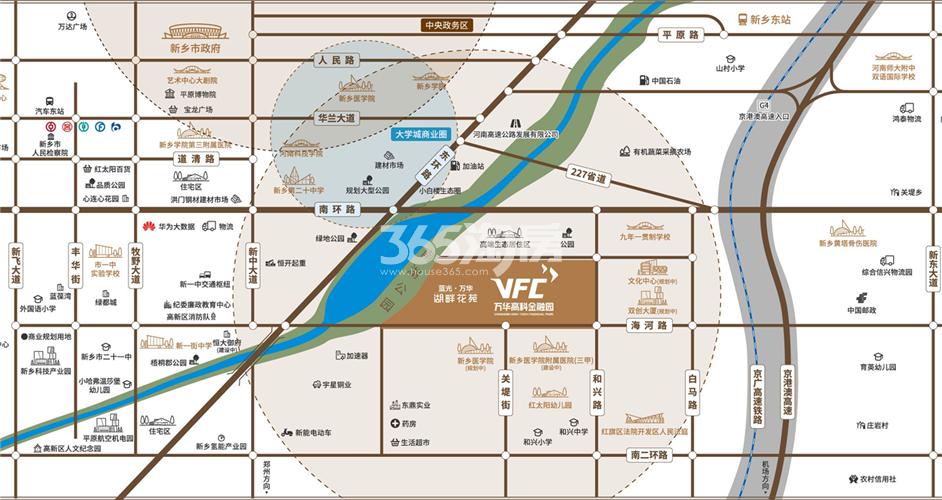 蓝光万华湖畔花苑交通图