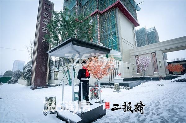 伟星玖璋台雪景景观-大门(2018.1摄)