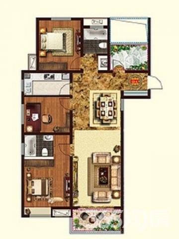 百商澜山墅5室毛坯 别墅区环境优美 户型方正 超大院子 看房预约