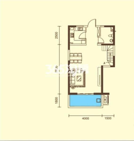 桃源漫步高层C户型3室2厅2卫约116.34平米