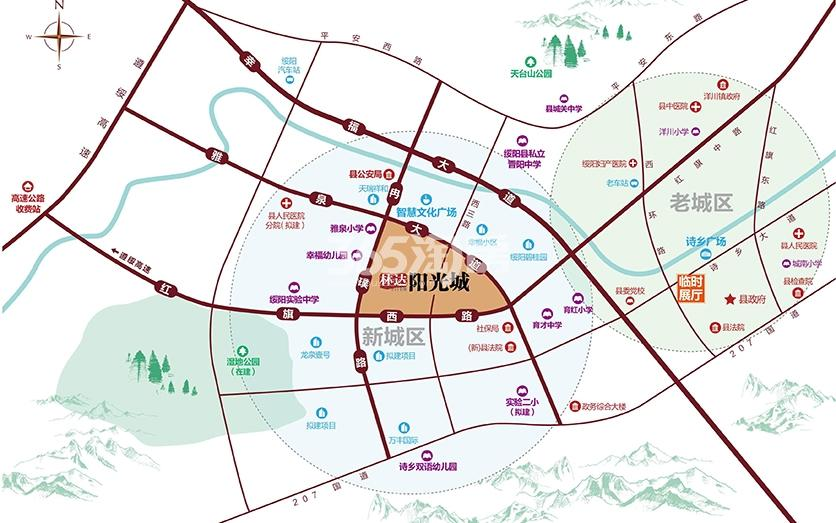 绥阳林达阳光城交通图