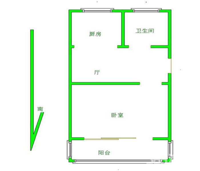 秦淮区苜蓿园明故宫小区1室1厅户型图