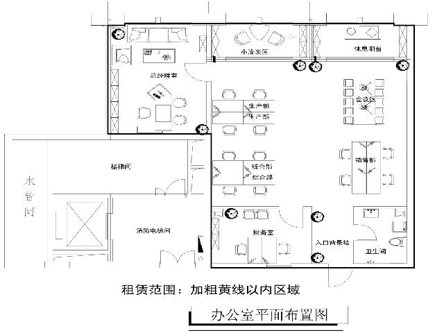 印象西湖国际广场153平米整租精装