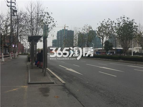 海玥名都周边公交站台实景图(12.25)