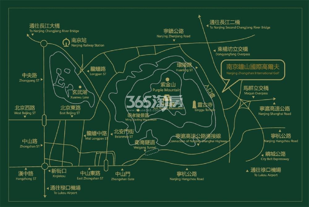 钟山国际高尔夫交通图