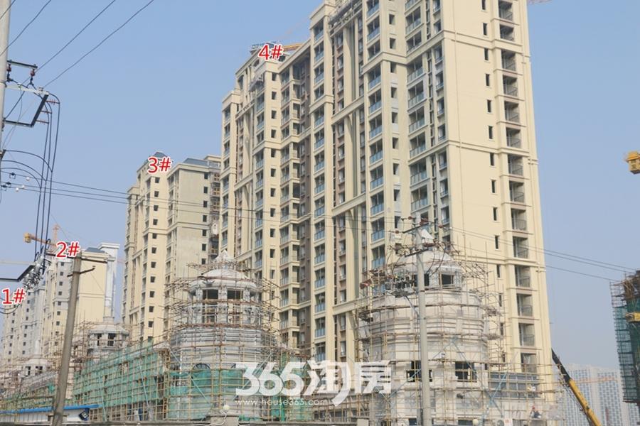 信德悦城1#、2#、3#、4#楼最新工程进度图(2018.3摄)