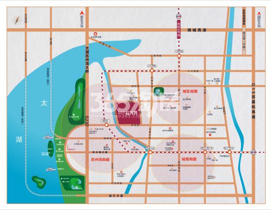 银城万科苏河湾(备案名:苏河鼎城花园)交通图